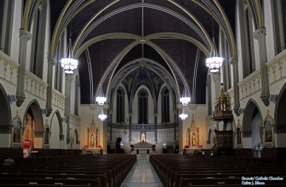 St. John the Evangelist Church (Indianapolis, IN). Nave. Photo graciously supplied by the excellent Roamin' Catholic Churches.