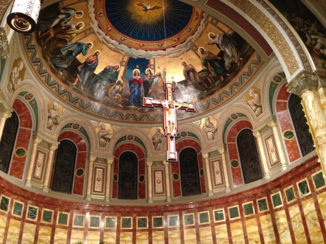 St. John's Seminary Chapel (Boston, MA). Apse. Photo from seminary website.