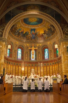 St. John's Seminary Chapel (Boston, MA). Sanctuary. Photo from seminary website.