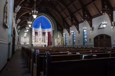 St. Patrick Church (Imogene, IA). Interior vista. Photo from parish website.