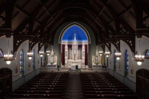 St. Patrick Church (Imogene, IA). Interior vista. Photo from parish website.