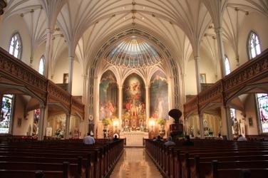 St. Patrick Church (New Orleans, LA). Interior vista. Photo from Visit New Orleans.