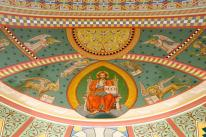 St. Peter Church (Lindsay, TX). Apse mural detail. Photo from parish website, copyright Mike McGee.