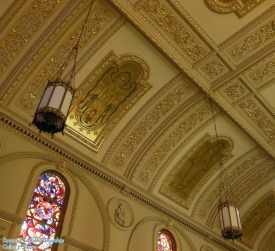 St. Stanislaus Oratory (Milwaukee, WI). Ceiling detail. Photo provided by Roamin' Catholic Churches.