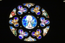 Our Lady of Grace (Maricopa, AZ). Rose window. Photo provided by parish.