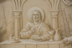 St. John Chrysostom Church (Inglewood, CA). Grisaille painting of Last Supper in apse. Photo provided by Enzo Selvaggi.