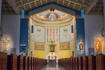 St. John Chrysostom Church (Inglewood, CA). Interior vista. Photo provided by Enzo Selvaggi.
