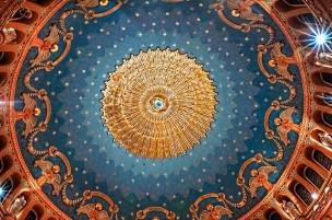 St. James Church (Louisville, KY). Eye of God at top of central dome. Photo from parish website.