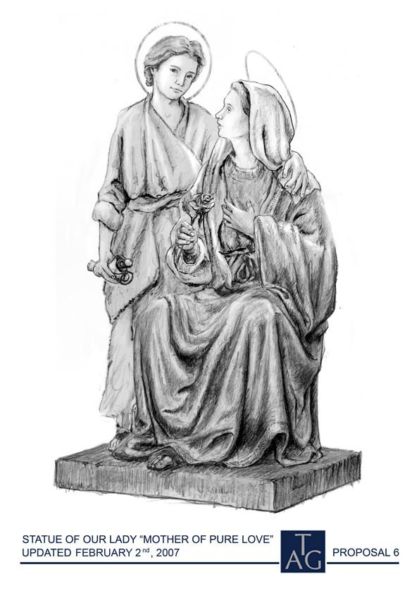 Art and Liturgy - Sketch for Mother of Fair Love statue