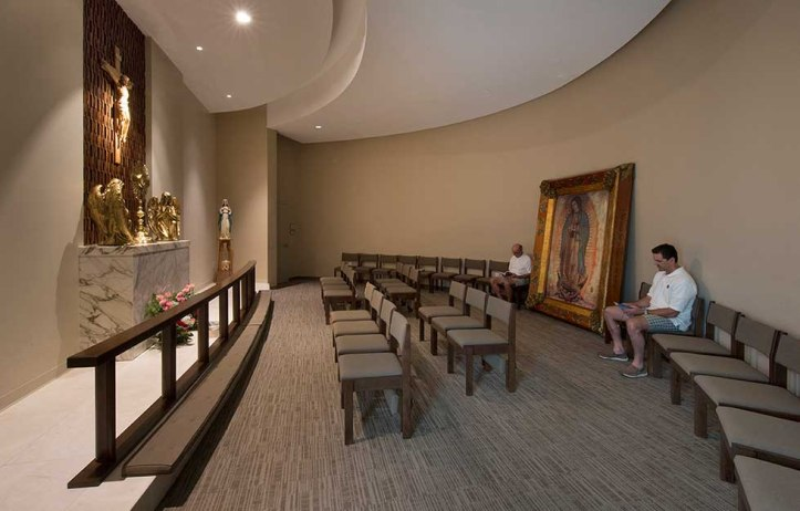 Art and Liturgy - Eucharistic Adoration Chapel - Our Lady of Guadalupe - Doral FL - Photo from Zyskovich Architects