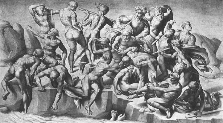 Art and Liturgy - Michelangelo Study for Battle of Cascina - Italian Renaissance Art.jpg