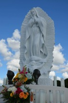 Custom carrara statue of OLG by Nilda Comas — Our Lady of Guadalupe Parish (Doral, FL). Photo from artist's website.