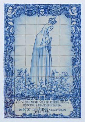 Art and Liturgy - Azulejo tiles of Our Lady of Fatima from Ribeira Brava Portugal