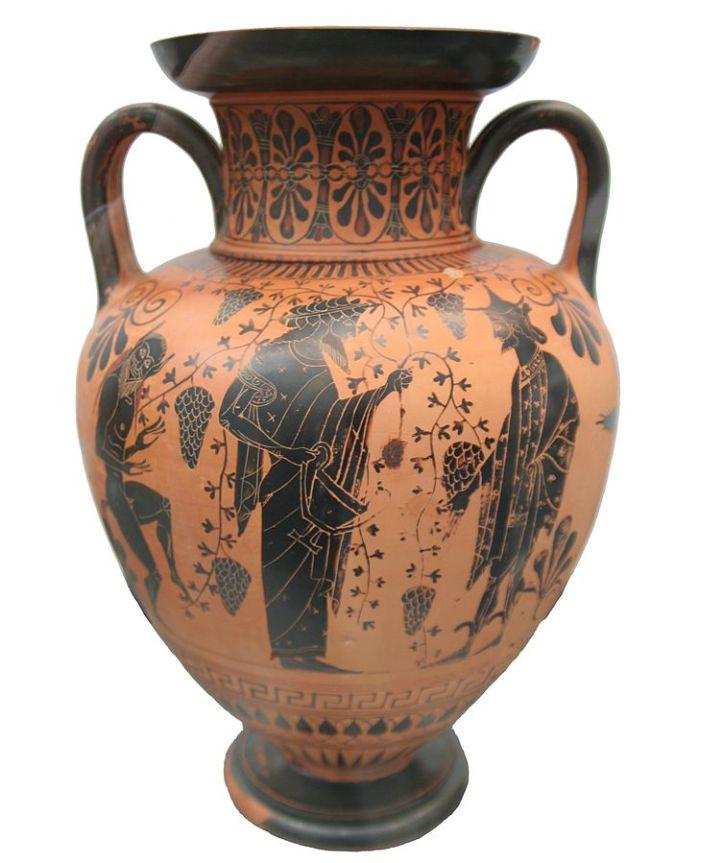 Art And Liturgy Ancient Greek Vase 520 Bc Dionysos Talking