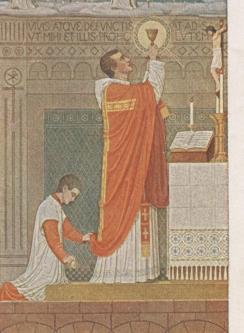 Art and Liturgy - Beuronese art - Messe mit Wandlungskerze