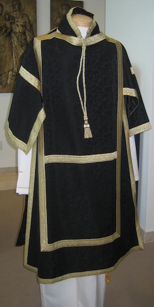 Art and Liturgy - Catholic Liturgical Colors - Black Dalmatic Vestment from Granda Liturgical Arts