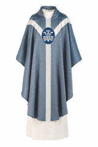 Art and Liturgy - Catholic Liturgical Colors - Blue Marian Vestment - Chasuble from Granda Liturgical Arts