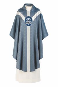 Art and Liturgy - Catholic Liturgical Colors - Blue Marian Vestment - Chasuble from Granda Liturgical Arts