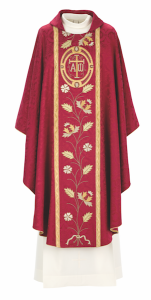 Art and Liturgy - Catholic Liturgical Colors - Red Hand-embroidered Vestment from Granda Liturgical Arts
