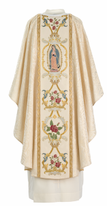 Art and Liturgy - Catholic Liturgical Colors - White Our Lady of Guadalupe Vestment from Granda Liturgical Arts