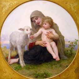 Art and Liturgy - William Adolphe Bouguereau - Virgin and Lamb