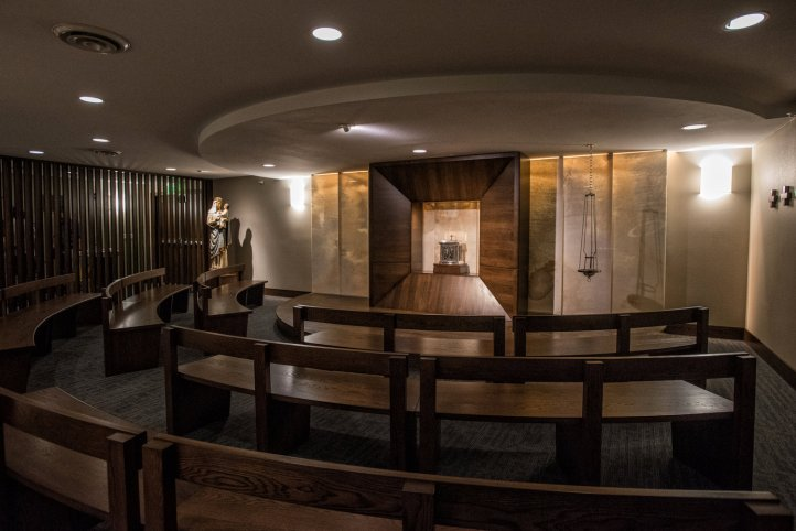 Art and Liturgy - Occursus Domini Chapel at University of Mary - Bismarck ND - Painting by Ruth Stricklin of New Jerusalem Studios - Architecture by Adam Hermanson of Integration Design Group.jpg